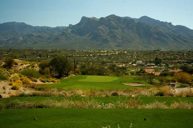 630422adebecd The third hole on Omni Tucson National Golf Resort s Sonoran course is a  downhill
