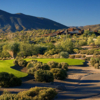A view of a tee from Cochise Course at Desert Mountain Golf Club.