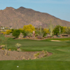 A view from a tee at No. 7 from Desert Mountain Golf Club.