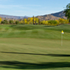 A sunny day view of a hole from No. 7 at Desert Mountain Golf Club.