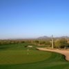 A view of a green protected by sand traps at Ancala Country Club