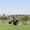 A view of a fairway at Desert Hills Golf Course.