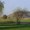 A view over a pond from Adobe Dam Family Golf Center