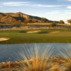 A view of the 18th green from #10 tee box at Founder's Course at Verrado Golf Club.