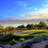 View of the 9th green from the Peaks course at Tonto Verde Golf Club