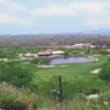 A view of the signature hole #18 at Arizona National Golf Club.