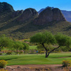 A view of the practice range at Gold Canyon Golf Resort