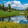 A view of a fairway at The Rim Golf Club.