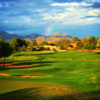 A view of a tee at Gainey Ranch Golf Club.