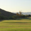 A view of a tee from Tres Rios Golf Course at Estrella Mountain Park.